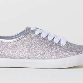 H and M silver glitter sneakers