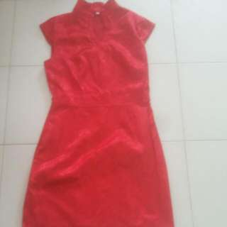 FASHION {4 FOR-$10} RED LONG FLOWERS DRESS.