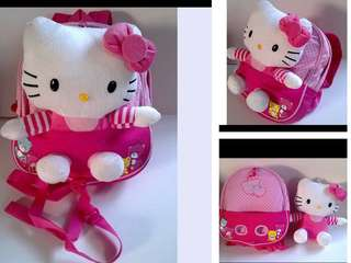 Hello Kitty Bag, Backpack, School Bag cum Plush Toy (with Harness)