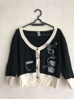 Jaket/ cardigan in black allsizes