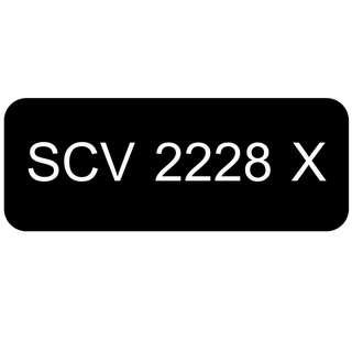 Car Number Plate for Sale: SCV 2228 X