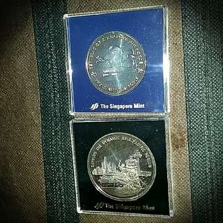 Commemorative Medallions of Airforce/AseanAreospace/International Youth Year/SAFTI Institude.