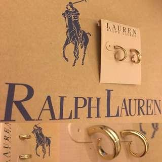 全新🆕Ralph Lauren 耳環 polo golden earrings