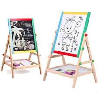 2 in 1 Double White/Black Board Easel Brand New