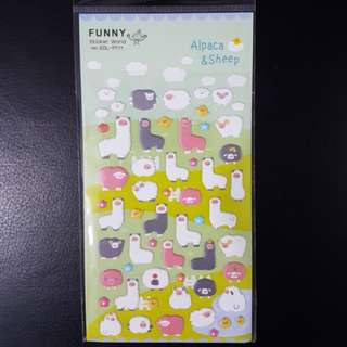 BN Alpaca and Sheep Pop-up Stickers