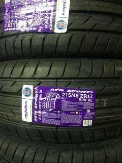 Tayar 215 45 17 achilles ATR sport 2 tyre