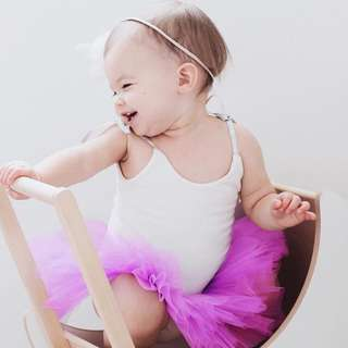 ✔️STOCK - WHITE TOP PURPLE FROCK TULLE SKIRT BABY GIRL DRESS BIRTHDAY PARTY PHOTOSHOOT OUTFIT KIDS CHILDREN CLOTHING