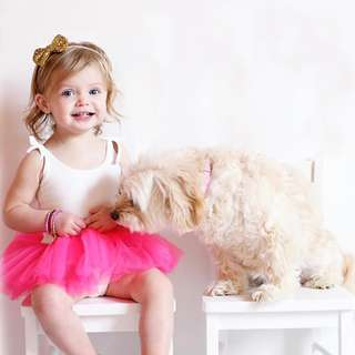 ✔️STOCK - WHITE TOP PINK FROCK TULLE SKIRT BABY GIRL DRESS BIRTHDAY PARTY PHOTOSHOOT OUTFIT KIDS CHILDREN CLOTHING