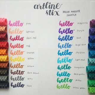 ARTLINE STIX brush marker 20 colours