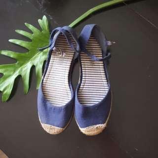 Blue summer espadrilles