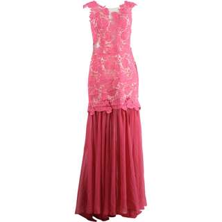 Caroline Kosasih Pink Lace Long Dress