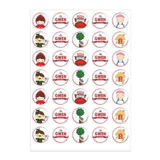 Little Red Riding Hood (Cookie Toppers/ Stickers/ Labels)