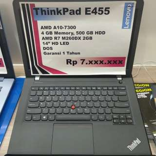 Kredit Laptop Lenovo ThinkPad E455 Amd A10 Free 1x Cicilan