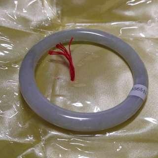 天然翡翠手鐲 55.3mm有石纹 實物較淺