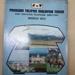 East Malaysia Telephone Directory 1972