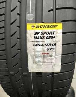 245/40R18 & 265/35R18 Dunlop Sport Maxx 050+