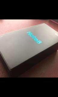 Galaxy note 8 black 全新 128gb