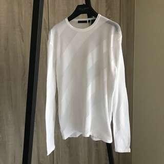 DK剪裁簡潔質感完美白針織衫