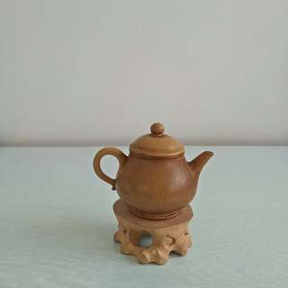 70s Zisha teapot height 6cm diameter 4cm