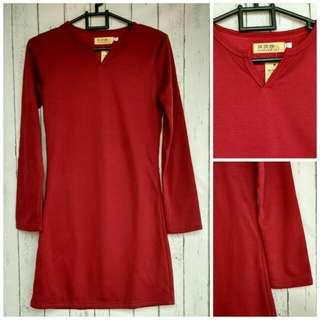 Kaos Panjang Import  Warna Merah