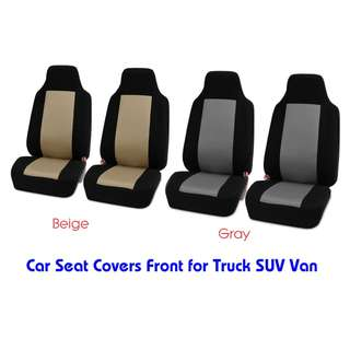 💯 Pair of Car Seat Covers Front for Truck SUV Van