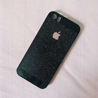 iphone 5s black glittery case