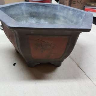 Clay Chinese Flower Bonsai  Pot