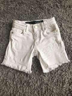 Cotton On white Denim short