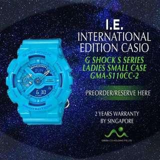 CASIO INTERNATIONAL EDITION G SHOCK S SERIES LADIES BLUE GMA-S110CC-2