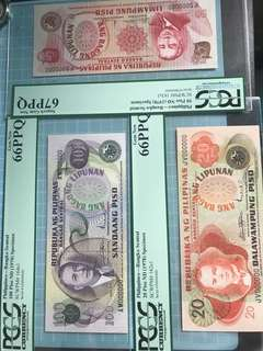 1978 Philippines 6 pcs Specimens Notes