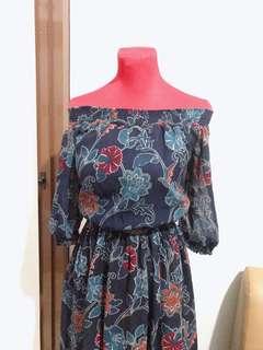 Shop Nita Off-Shoulder Floral Dress