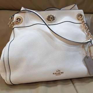 Coach white bag