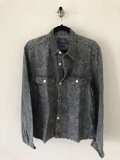 Topman Kemeja Outer Shirt Washed
