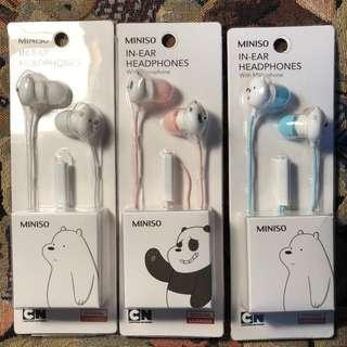 headset miniso we bare bears