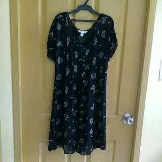 Esprit black floral dress