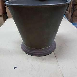 Vintage Heavy Brass pail