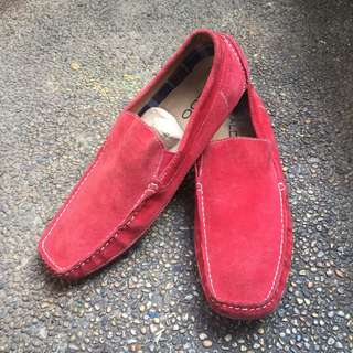 Aldo Red Suede Loafers / Boat shoes