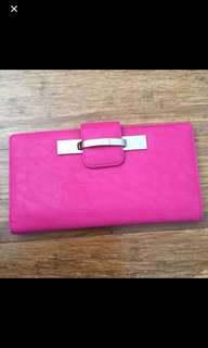 Hot pink wallet