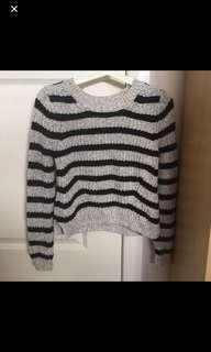 Black stripe knit