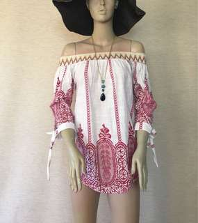 Bohemian Style Off Shoulder Top