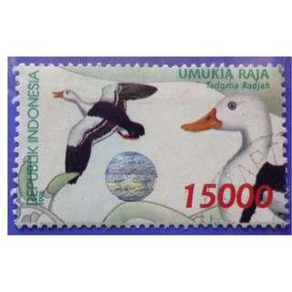 Stamp Indonesia 1998 Birds - Ducks Tadorna radjah 15000 Rp