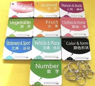 Baby flash cards toddler children kids colours vehicles clothes shapes numbers home stationery fruits animals