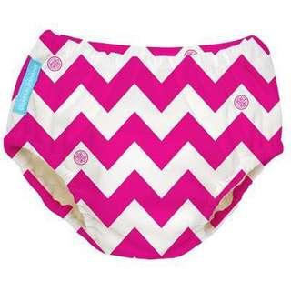 Charlie Banana Swim Diaper Hot Pink Chevron