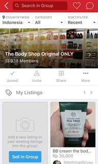 Join Group The Body Shop