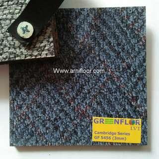 Lantai vinyl tile motif karpet bermacam warna