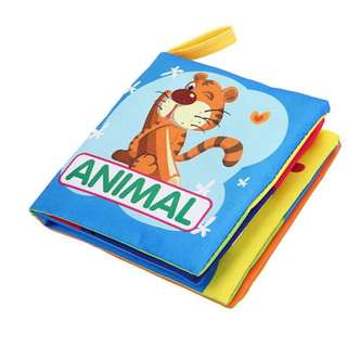 ❤On-hand: 2 for 5.00 Baby Soft Cloth Book (Animals)
