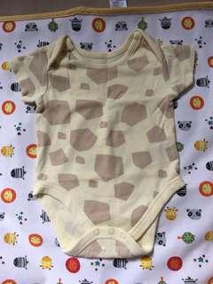 Mothercare Giraffe print oneise for 3-6 mo