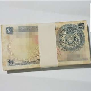 100 Runs Orchid $1 Note (Running Number)