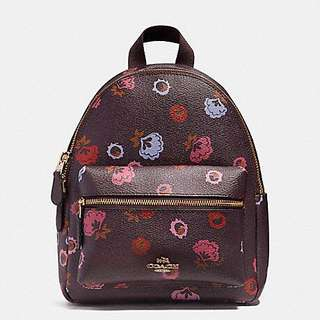 MINI CHARLIE BACKPACK WITH PRIMROSE FLORAL PRINTS