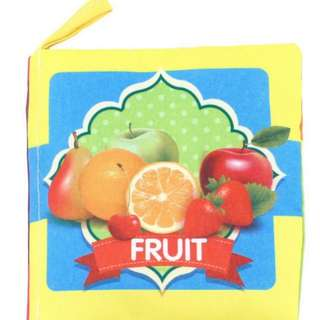 ❤ On-hand 2 for 5.00 Baby soft cloth book (Fruits)